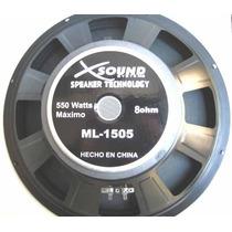 Parlante Xsound 15 Pulgadas 550w Max.8 Ohm Ml-1505