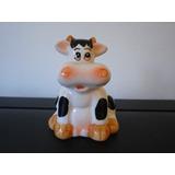 Adorno / Porta Escarbadientes Vaca De Ceramica