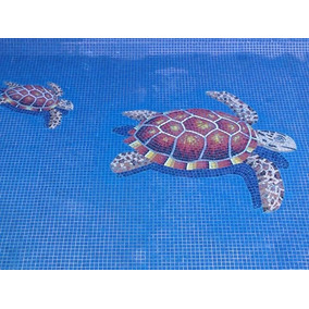 Mosaico Veneciano Figura Tortuga Marina Para Alberca