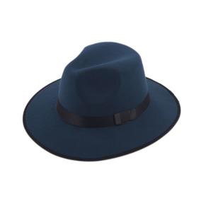 Sombrero Ala Ancha Verde Azulado Vintage Hipster Funky B24