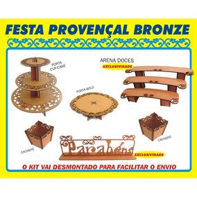 Kit Festa Provençal Bronze - Desmontado - Mdf Cru - C/ Arena