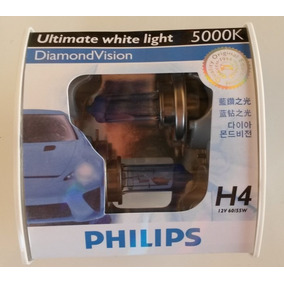 Kit Lampadas Philips Diamond Vision H4 Efeito Xenon