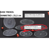 -plato De Vidrio Para Microondas 25,5 Cm Con Base Trebol