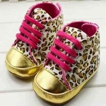 Tênis Sapato Sapatinho Bebê Menina Oncinha Fofíssimo!