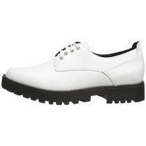 Zapato Mujer Steve Madden Dewwars Blanco Cuero Envío Grati