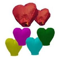 Globos De Cantoya Corazón (colores Surtidos)