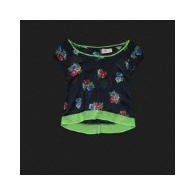 Blusa Hollister Estampada Con Flores 100% Original