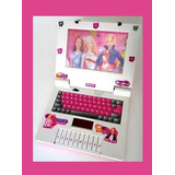 Brinquedo Musical Formato Laptop Infantil Barbie Leila Rosa