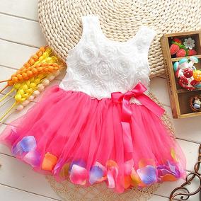Vestido Infantil Importado Flores A Pronta Entrega