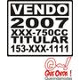 3 Stickers Personalizados Venta De Auto, Moto , Camioneta,