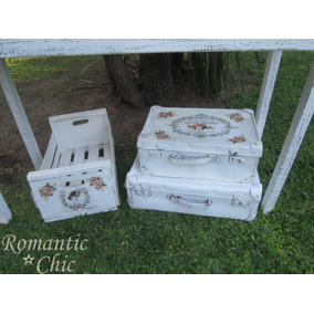 Valija Antigua Decoracion Shabby Chic Vintage