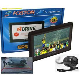 Gps Foston Fs-3d473dc Câmera Ré Tela 4,3 Full Hd Tv Trans-fm