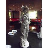 Figura De Porcelana Mujer Con Sombrero Envio Gratis