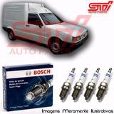 Jogo Vela Bosch Sp04 Fiorino Furgão 1.0 8v Gasolina 47cv