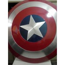 Escudo Do Capitão América De Metal 45 Cm