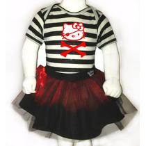 Disfraz Halloween Para Bebes - Pañalero+tutu- Hello Kitty