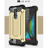 Funda Uso Rudo Lg G6 G5 K10 2017 Q10 + Mica Glass