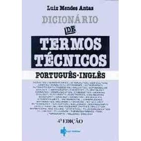 Dicionario De Termos Tecnicos - Portugues/ingles