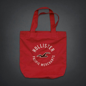 Hollister Abercrombie Bolsa Canvas Tote Book Bordada P/en
