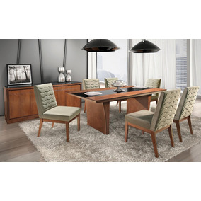 Sala De Jantar 6 Cadeiras+buffet +mesa , Decoração Apt Casa