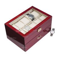 Caja - Estuche De Madera Para Guardar 20 Relojes