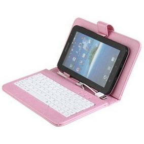 Capa Case Com Teclado 7 Universal Usb Para Tablet