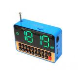 Rádio Relógio Digital Com Despertador Usb Sd Card