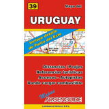 Mapa De Rutas Y Caminos De La República O. Del Uruguay