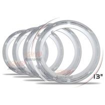 Jogo Sobre Aro Cromado Universal Aro 13 Plástico Abs 4 Peças