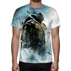 Camisa, Camiseta As Tartarugas Ninja Leonardo Estampa Total