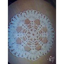 Carpeta A Crochet Redonda