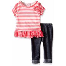 Conjunto Musculosa Remera Y Calza Kids Headquarte Para Niñas