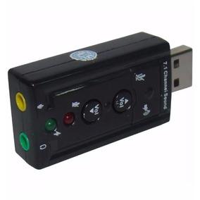 Placa Som Adaptador Áudio Entrada P2 Fone Ouvido Microfone