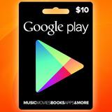 Google Play Gift Card $10 Android Smartphone Tarjeta Prepago