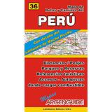 Mapa Rutas Y Caminos De Perú Y Machu Pichu