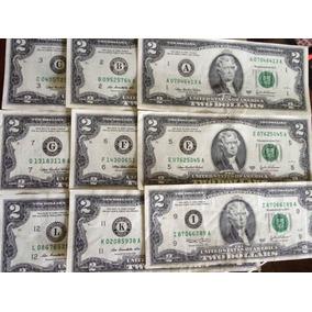 Cédulas De 2 Dólares Americano. A,b,c,e,f,g,i,k,l