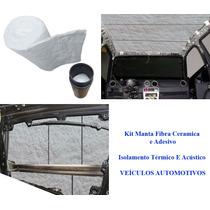 Kit Manta Fibra Ceramica Isolamento Térmico E Acústico Carro