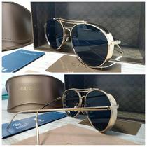 Óculos Gucci Round Gold - Aviador Lançamento