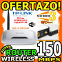 Wow Router Tplink 150mbps Tl Wr741nd Antena Desmontable Wifi