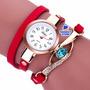 Relojes Mujer Pulsera Brazalete Cuero Joya Colores