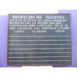 Muy Antiguo Pizarron De Estacion Ferrocarril