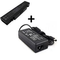 Kit Bateria + Carregador Para Notebook Samsung Rv411 Rv420