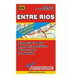 Mapa De Rutas Y Caminos De La Provincia De Entre Ríos