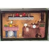 Cozinha Mineira Quadro De Miniaturas Em Cobre Artesanal