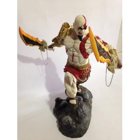 Boneco Kratos God Of War Em Resina Pintado A Mao