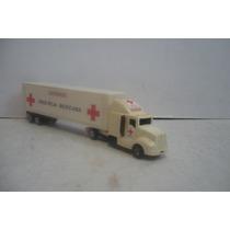 Trailer Cruz Roja Mexicana - Camioncito De Juguete Escala