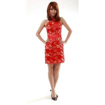 Lindo Vestido Qipao Chines Japones Festa Moda + Frete Gratis