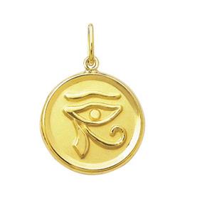 Pingente Olho De Orus 1,7cm Ouro 18k 750 Com Certificado