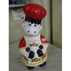 #14602 - Porta Colher Pau Vaquinha Cerâmica Vermelha!!!