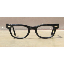 Lentes Vintage Cat Eye, Color Negro, Usa, Año 1960, Gafas